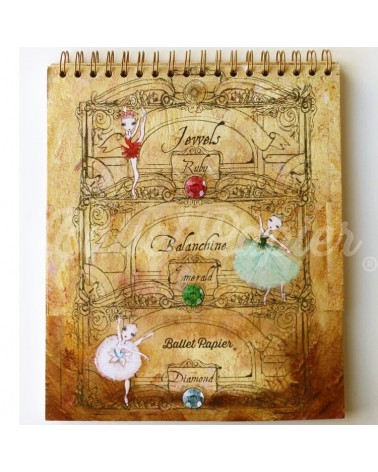 Libreta Ballet Papier Jewels Balanchine