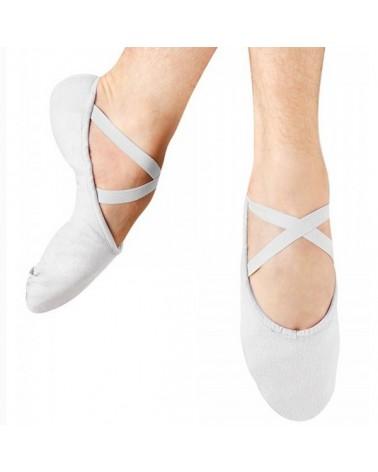 Zapatilla de baile hombre suela partida blanca
