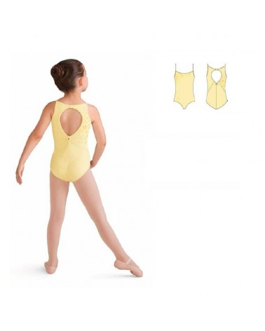 Maillot Infantil Bloch Amarillo Mariposas