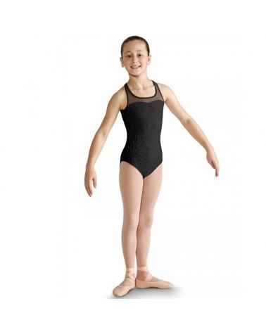 Malla ballet Infantil Negro de Danza con relieve
