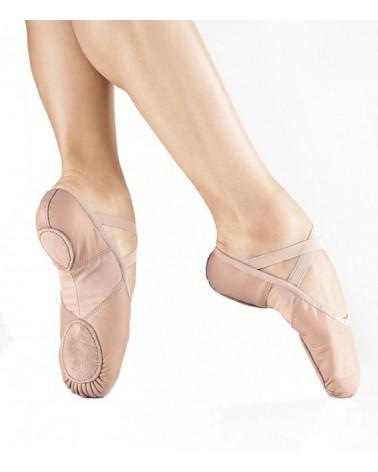 Zapatilla de Ballet Media Punta Piel BAE11