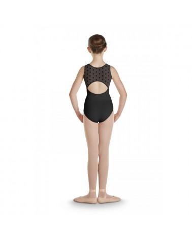 Maillot infantil ballet Negro Topos