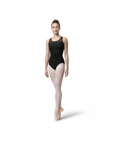 Maillot Ballet Negro Espalda Cruzada