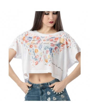 Camiseta Top Crop Farfalle