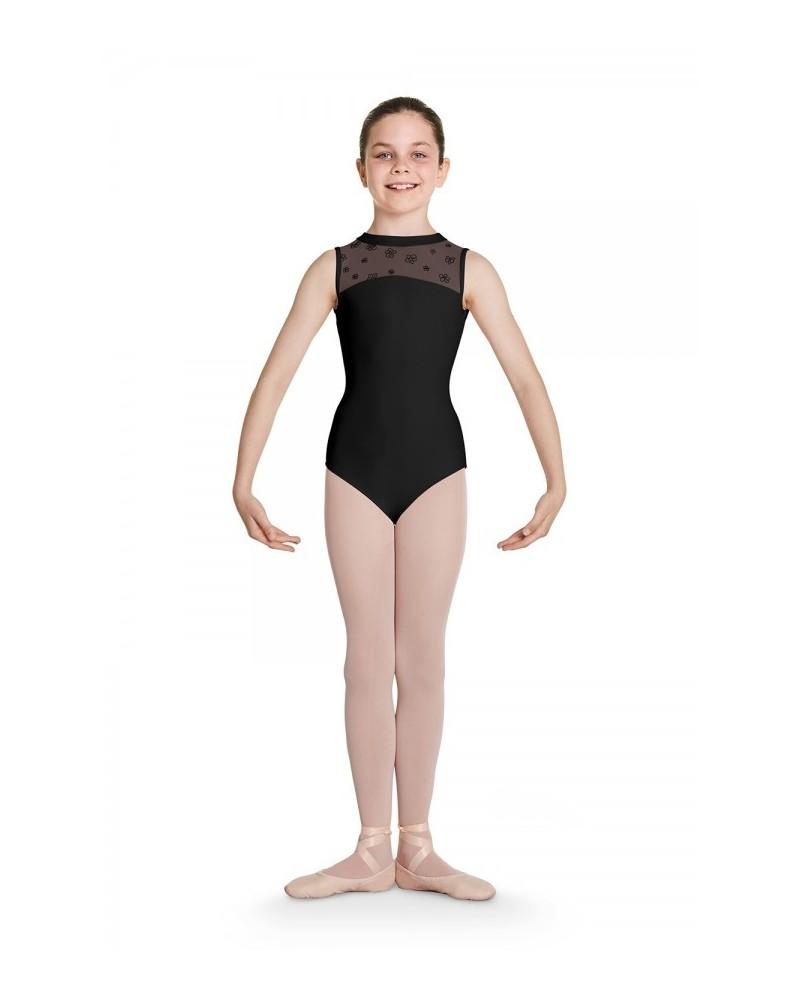 Malla de Ballet Infantil Negra Corazón