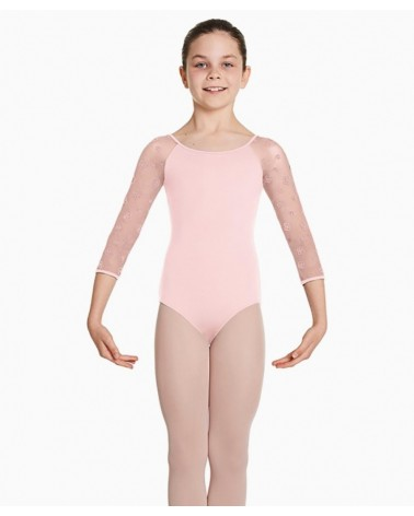 Malla de Ballet Infantil Rosa Manga Larga