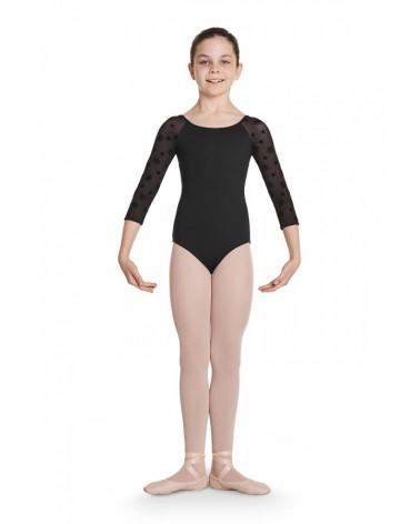 Malla de Ballet Infantil Negra Manga larga
