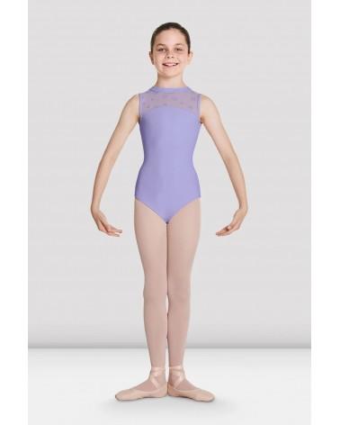 Malla de Ballet Infantil Lila Flores