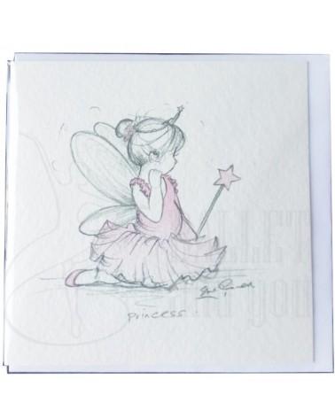 Tarjetas de invitacion ballet niña varita
