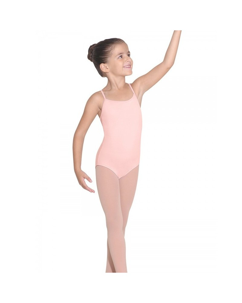 df3a4b816b Malla de ballet Rosa infantil iniciación para niña con tirante ancho.