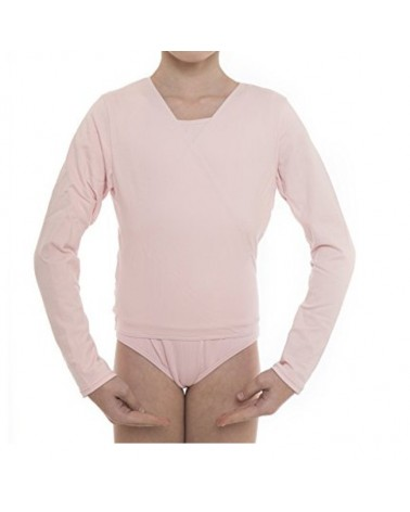 Chaqueta Infantil Ballet Cross Over Top Rosa