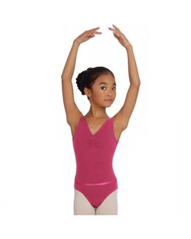 Malla Ballet NiñaA Pequeña Rosa Fuerte
