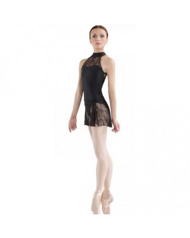 Maillot Negra Ballet con Encaje