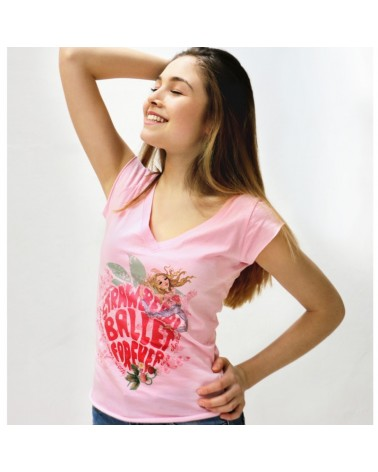 Camiseta Strawberry Ballet Papier