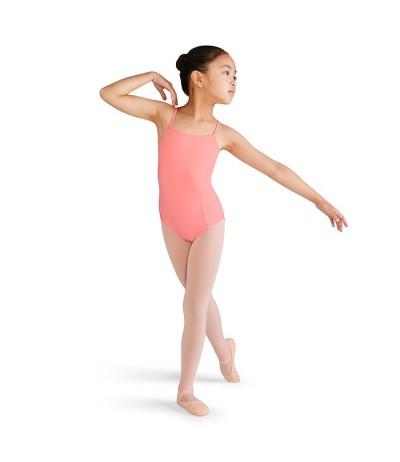 Maillot Infantil de Ballet Salmón Bordada
